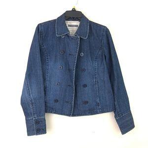 Liz Clairborne Denim Jacket Sz 10 Button Sleeves